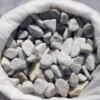 Галька мраморная белая в мешках 20-40мм, кг